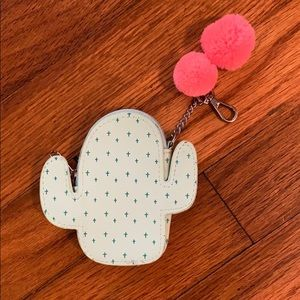 Cactus keychain pouch